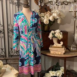 Lilly Pulitzer ruched front dress
